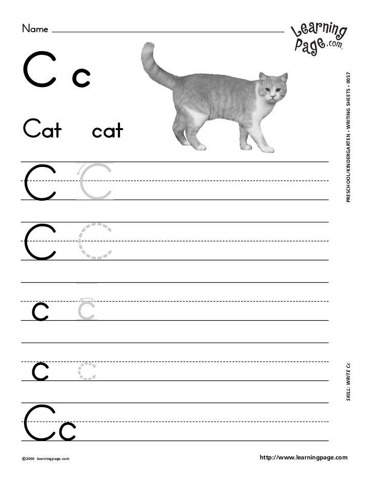 NameCc                                                           WRITING SHEETS • 0057Cat                        cat      ...