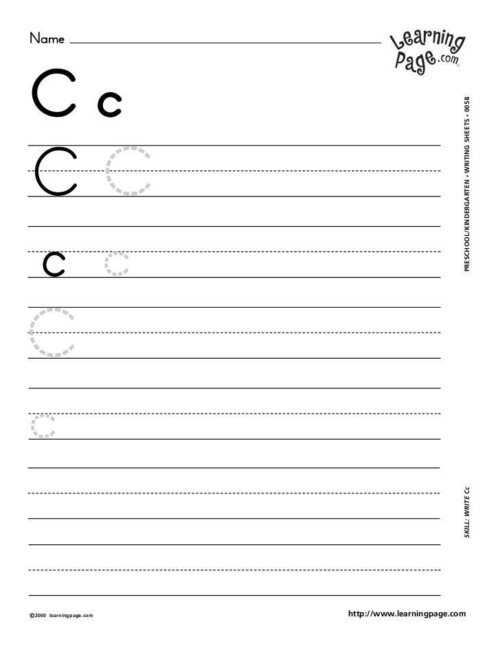 NameCc                                                     WRITING SHEETS • 0058CC                                        ...