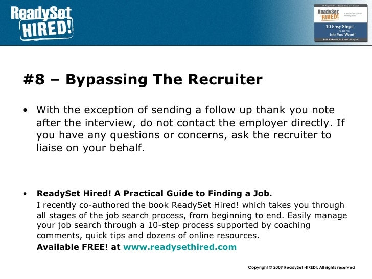 Top 10 Mistakes - #4 Working With Recruiters