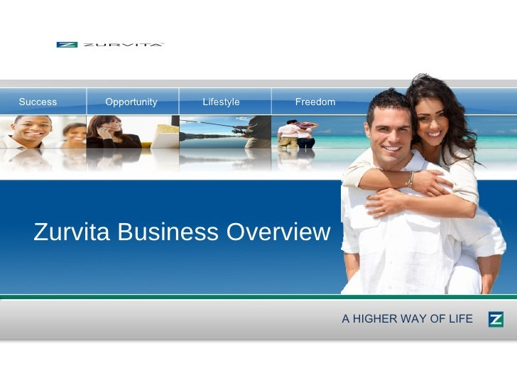 Zurvita Business Overview A HIGHER WAY OF LIFE Success Opportunity Lifestyle Freedom