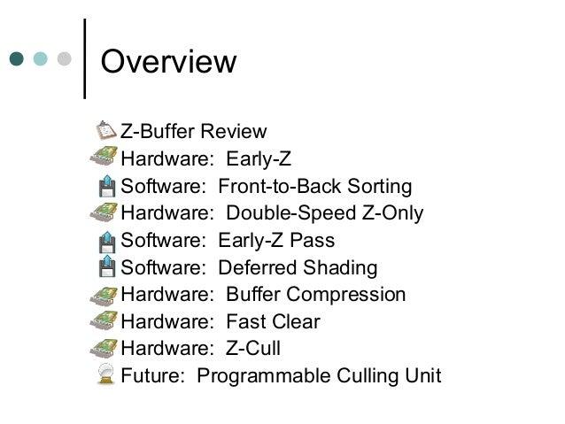 Z Buffer Optimizations Slide 2