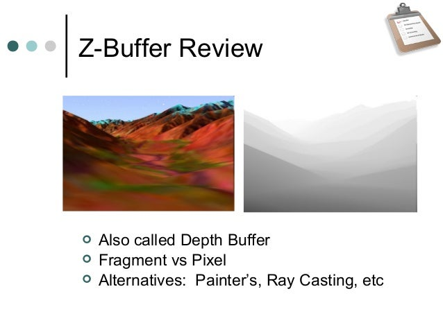Z Buffer Optimizations Slide 3