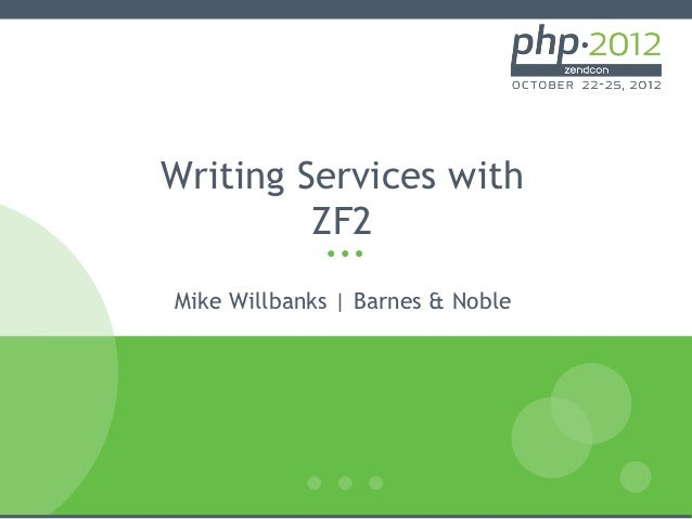 Writing Services with         ZF2Mike Willbanks | Barnes & Noble