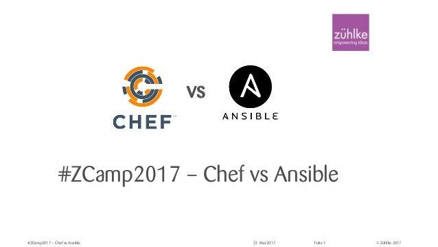 © Zühlke 2017#ZCamp2017 – Chef vs Ansible 31. Mai 2017 Folie 1 #ZCamp2017 – Chef vs Ansible vs