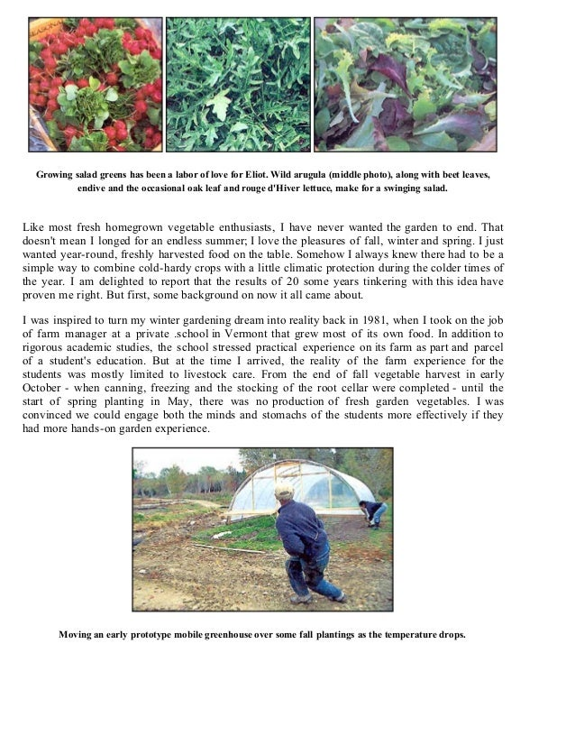 Cold Frames & Greenhouses - A Garden for All Seasons