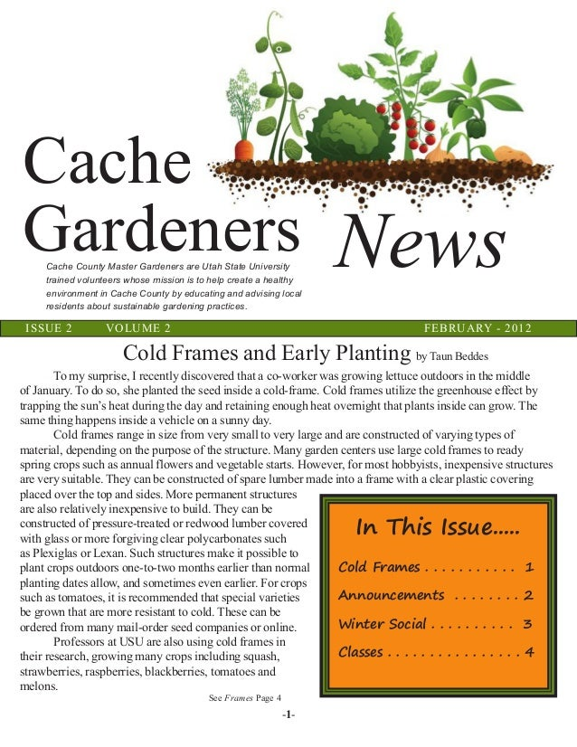 Cold Frames and Early Planting for Winter Gardening in Cache County, …
