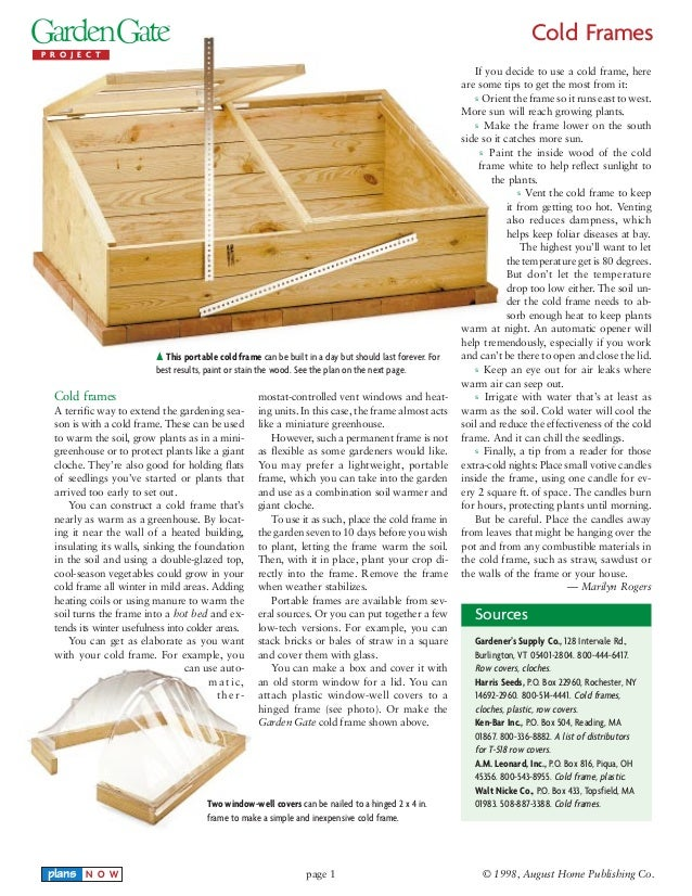 Cold Frames Guide - for Winter Gardening