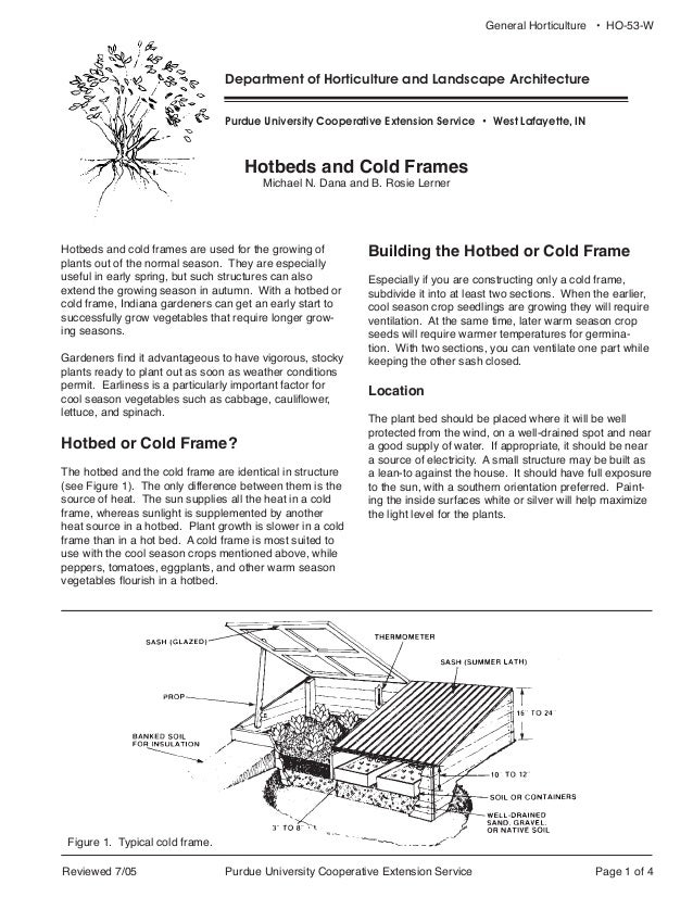 Hotbeds & Cold Frames Guide - for Winter Gardening in Indiana