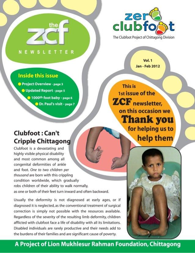 Zero Clubfoot Newsletter 1