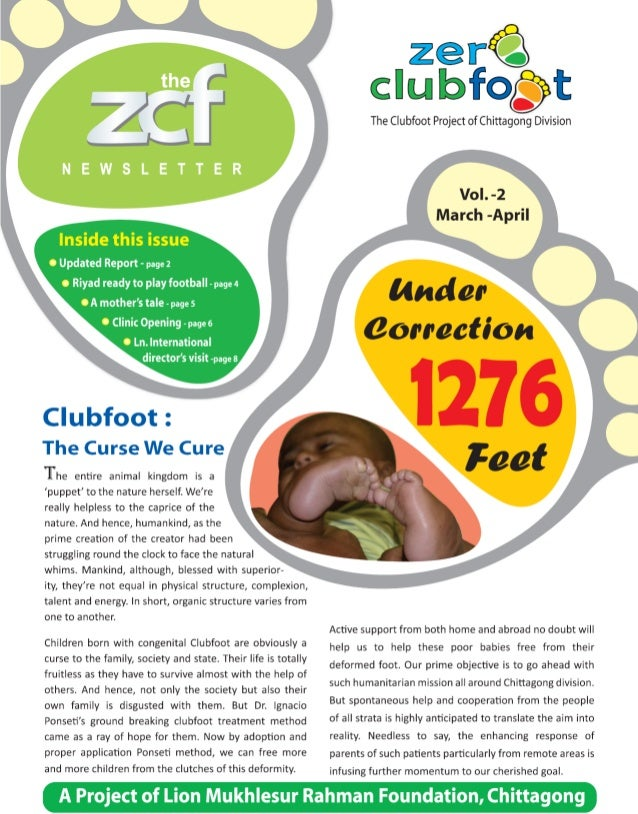 Zero Clubfoot Newsletter 2