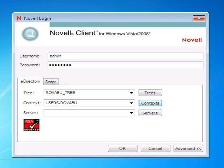 Windows Vista Netware Client