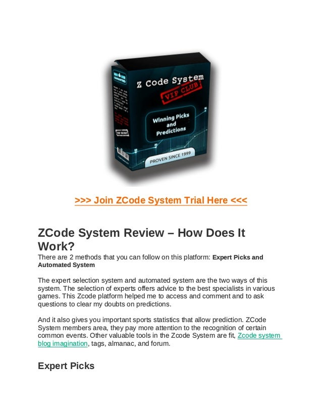 >>> Join ZCode System Trial Here <<< ZCode System Review – How Does It Work? There are 2 methods that you can follow on th...