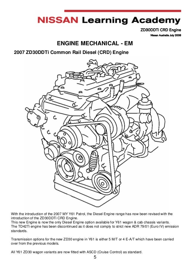 Manual Engine Zd30 Nissan on nissan 3 5 engine diagram