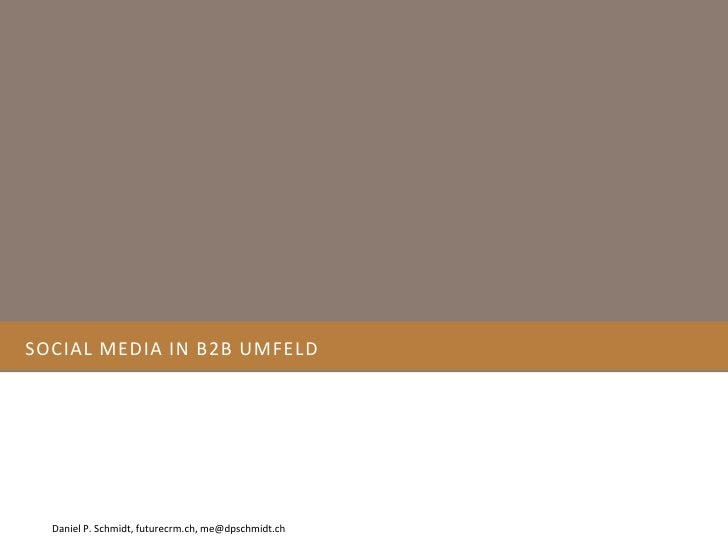 Social Media In B2b Umfeld