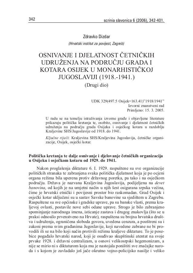 342                                             scrinia slavonica 6 (2006), 342-401.                                  Zdra...