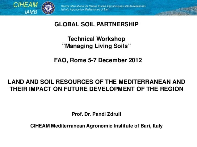 Land and soil resources of the mediterranean and their for Land and soil resources definition