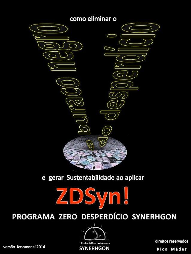 ZDSyn! por Rico Mäder _ versão 2012 PROGRAMA ZERO DESPERDÍCIO SYNERHGON