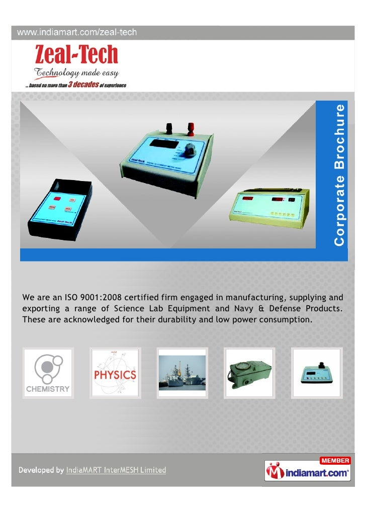 We are an ISO 9001:2008 certified firm engaged in manufacturing, supplying andexporting a range of Science Lab Equipment a...