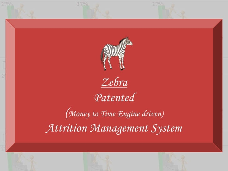 Zebra<br />Patented<br />(Money to Time Engine driven)<br />Attrition Management System<br />