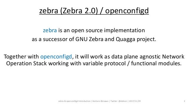 zebra & openconfigd Introduction