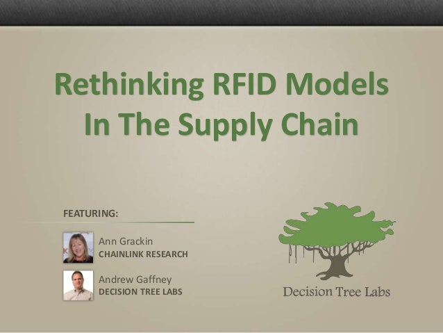 Rethinking RFID Models  In The Supply ChainFEATURING:      Ann Grackin      CHAINLINK RESEARCH      Andrew Gaffney      DE...
