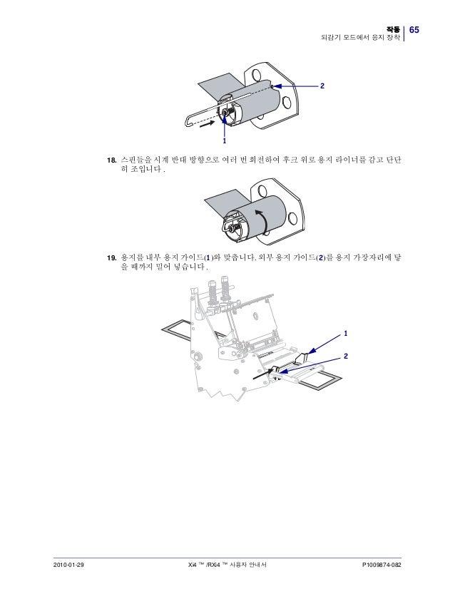 지브라프린터 Zebra R110Xi4 열전사감열 RFID프린터 매뉴얼