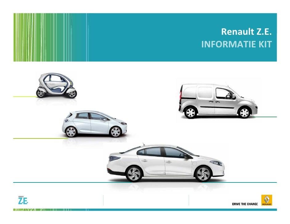 Renault Z.E.INFORMATIE KIT