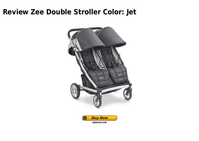 Review Zee Double Stroller Color: Jet