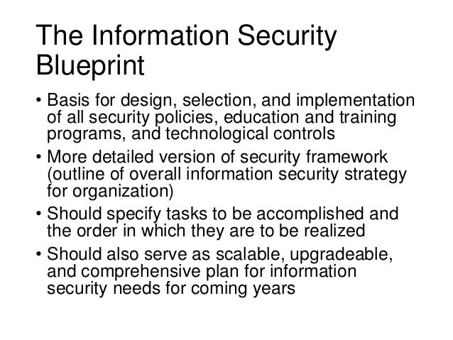 Information security blueprint 13 the information security blueprint malvernweather Images