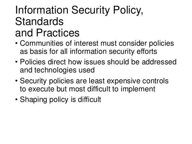 Information security blueprint security needs of various communities of interest 4 malvernweather Images
