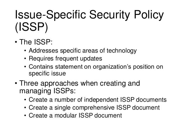 Information security blueprint disciplinary action 8 issue specific security malvernweather Images