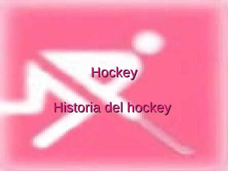 Hockey Historia del hockey
