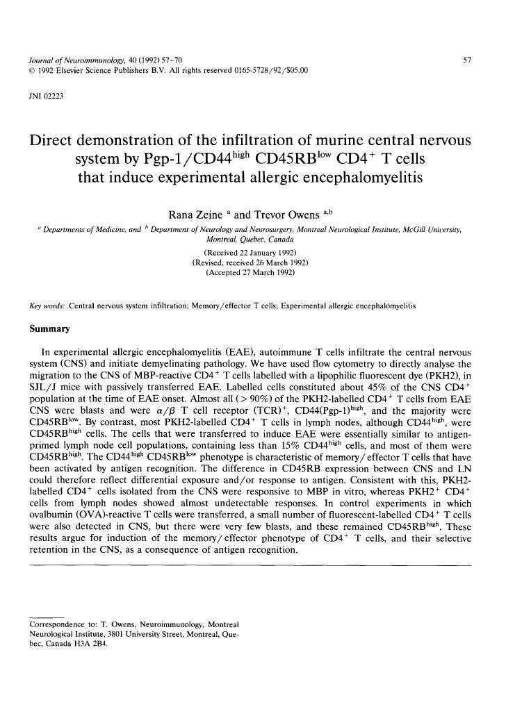 Journal of Neuroimmunology, 40 (1992) 57-70                                                                               ...
