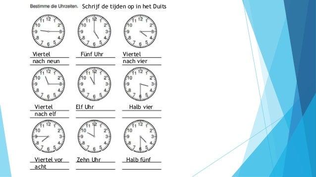 Uhrzeit in englisch
