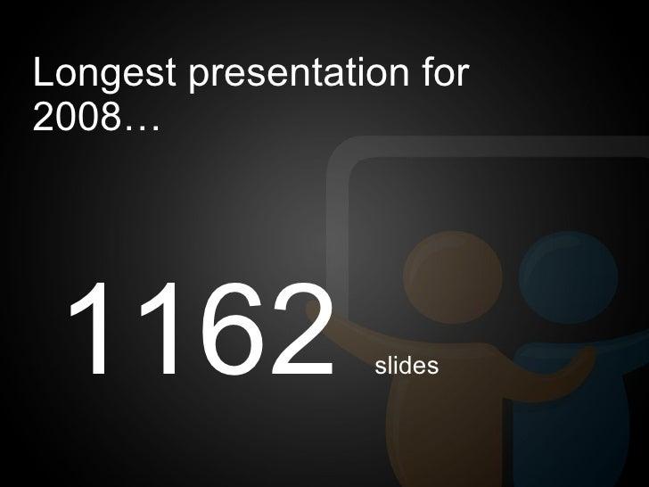 The SlideShare Zeitgeist 2008 - The World's Presentation trends for 2008 Slide 3