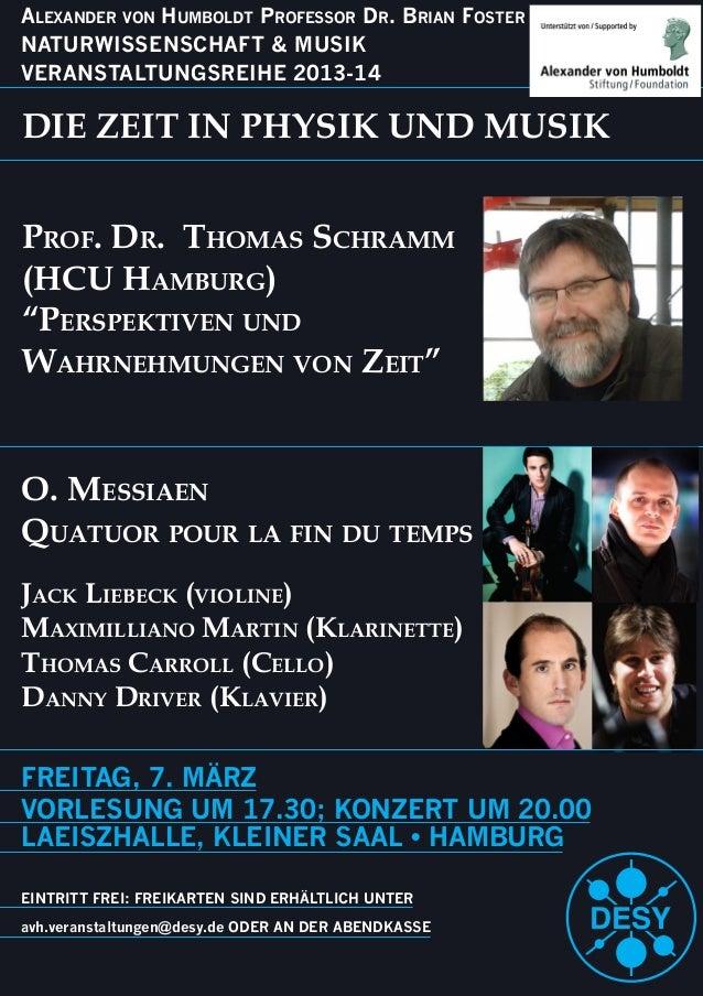 FREITAG, 7. MÄRZ VORLESUNG UM 17.30; KONZERT UM 20.00 EINTRITT FREI: FREIKARTEN SIND ERHÄLTLICH UNTER Alexander von Humbol...