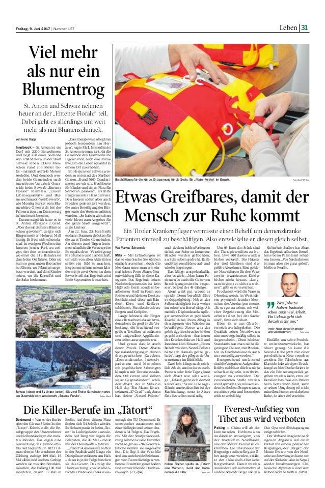 Zeitungsbericht tiroler tageszeitung 09.06.2017