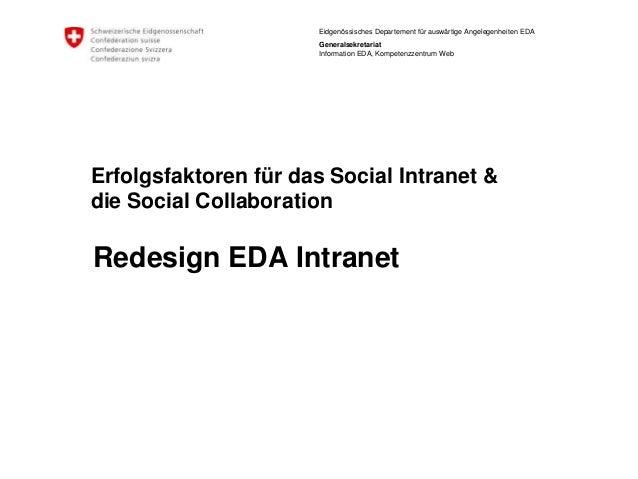 Eidgenössisches Departement für auswärtige Angelegenheiten EDA  Generalsekretariat  Information EDA, Kompetenzzentrum Web ...