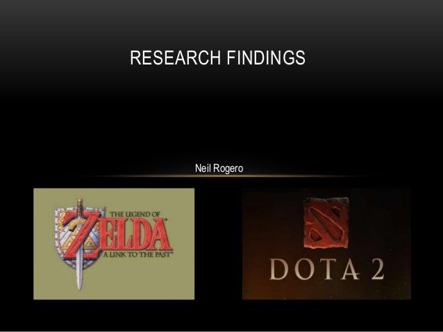 RESEARCH FINDINGS  Neil Rogero