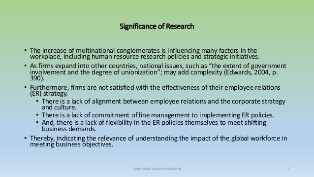 personal research in hrm