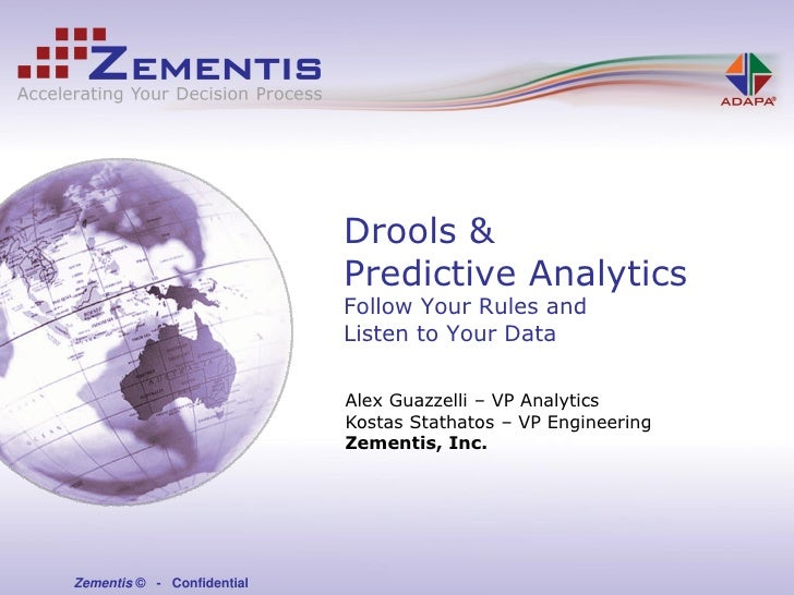 Drools &                             Predictive Analytics                             Follow Your Rules and               ...