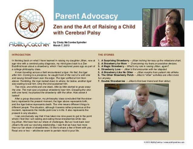 Parent Advocacy                                      Zen and the Art of Raising a Child                                   ...