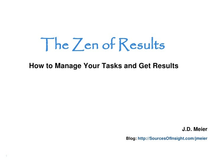 The Zen of Results     How to Manage Your Tasks and Get Results                                                           ...