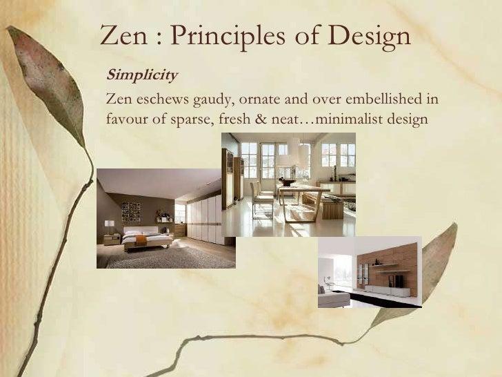 Zen Principles of DesignSimplicityZen