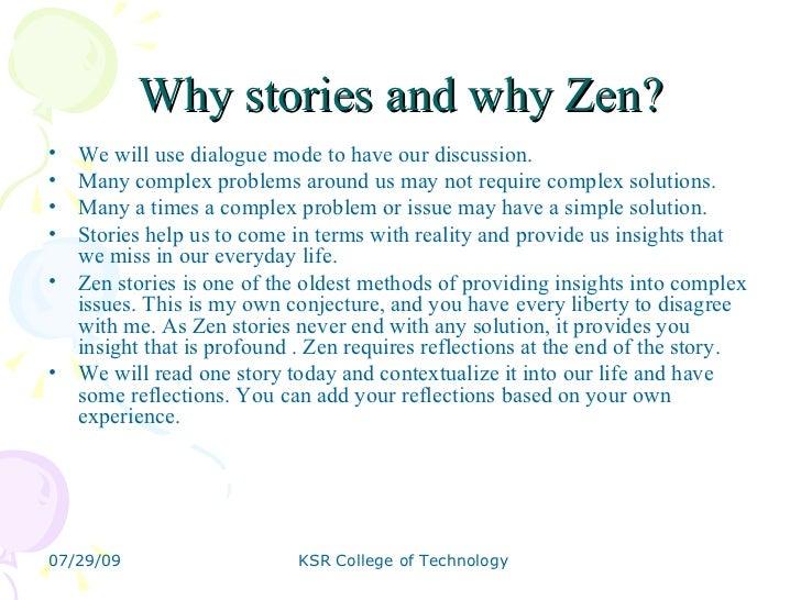 Zen Stories for Management Students  Slide 2