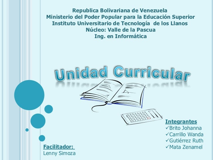 Republica Bolivariana de Venezuela <br />Ministerio del Poder Popular para la Educación Superior<br />Instituto Universita...