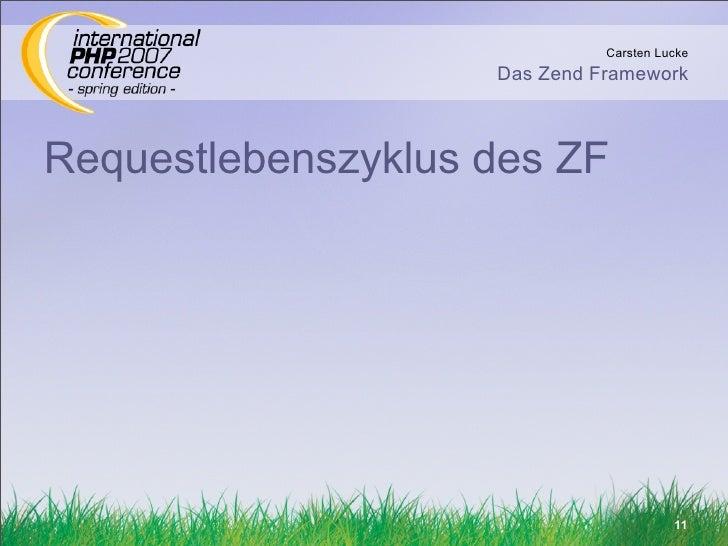 Carsten Lucke                     Das Zend Framework    Requestlebenszyklus des ZF                                        ...