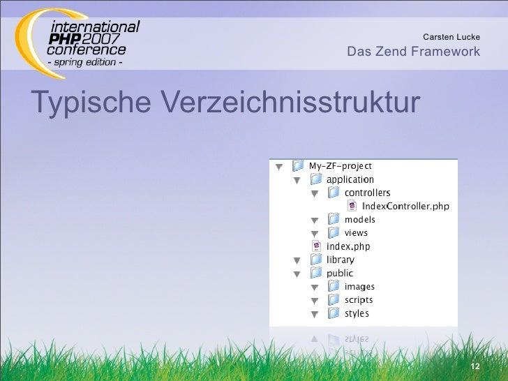 Carsten Lucke                       Das Zend Framework    Typische Verzeichnisstruktur                                    ...