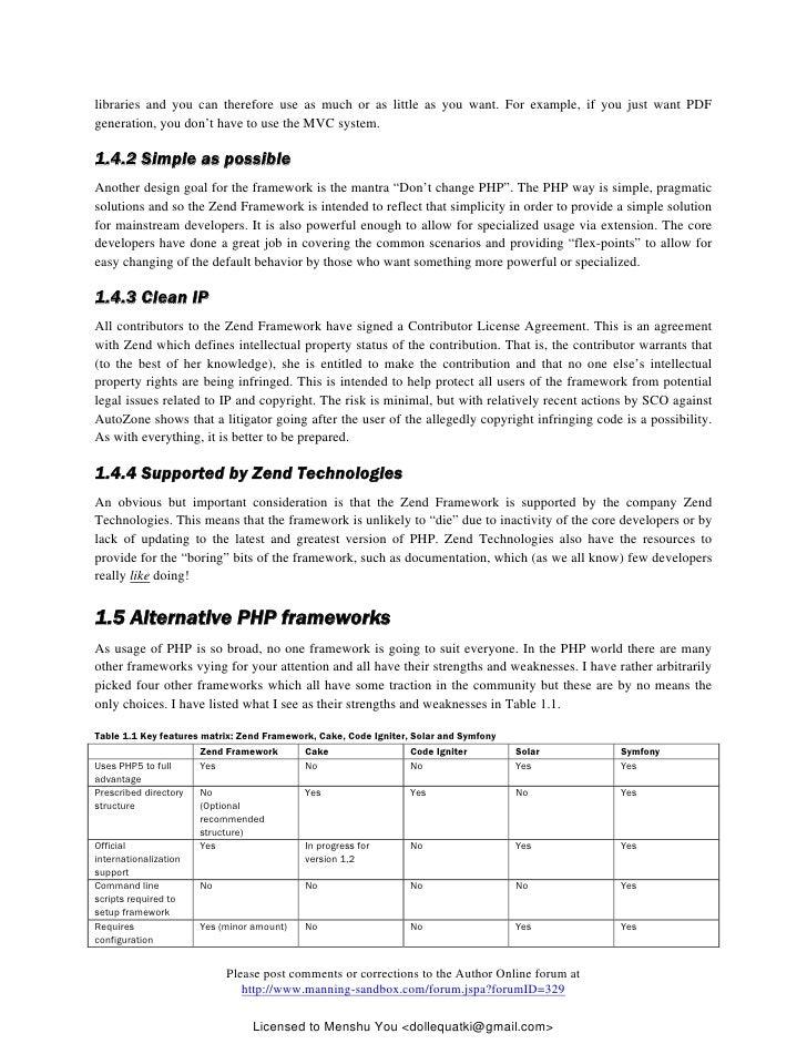 Zend Framework Documentation Pdf