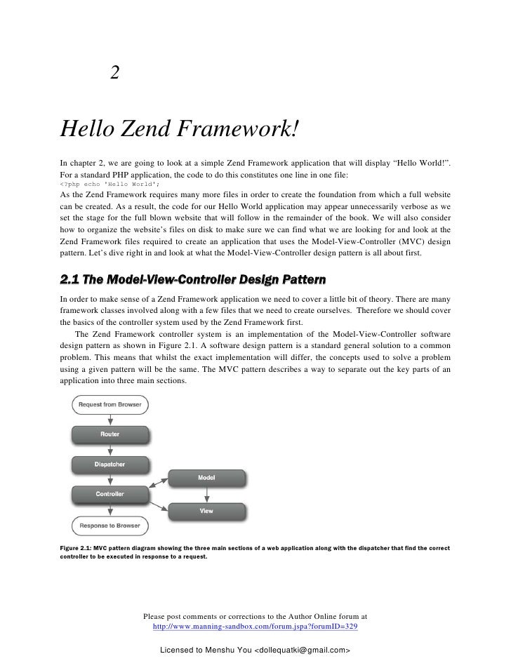 Zend Framework In Action pdf